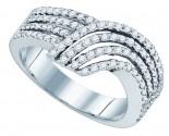 Ladies Diamond Fashion Band 10K White Gold 0.74 cts. GD-77474