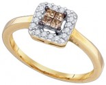 Champagne Brown Diamond Ring 10K Yellow Gold 0.25 cts. GD-77612