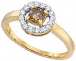 Chocolate Brown Diamond Ring 10K Yellow Gold 0.50 cts. GD-77615