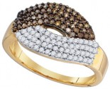Chocolate Brown Diamond Ring 10K Yellow Gold 0.72 cts. GD-77687