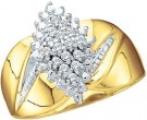 Ladies Diamond Fashion Ring 10K Gold 0.15 cts. GD-7822