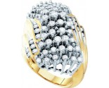 Diamond Cocktail Ring 10K Yellow Gold 3.00 ct GD-7840