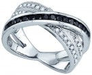 Black Diamond Fashion Ring 10K White Gold 0.55 cts. GD-79049