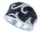 Black Diamond Fashion Ring 10K White Gold 1.00 ct. GD-79067
