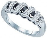 Black Diamond Fashion Ring 10K White Gold 0.35 cts. GD-79069