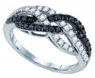 Black Diamond Fashion Ring 10K White Gold 0.50 cts. GD-79077