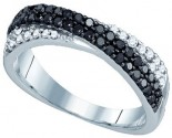 Black Diamond Fashion Ring 10K White Gold 0.55 cts. GD-79079