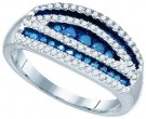 Blue Diamond Fashion Band 10K White Gold 0.70 cts. GD-79093