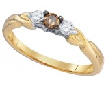 Chocolate Brown Diamond Ring 10K Yellow Gold 0.25 cts. GD-79131