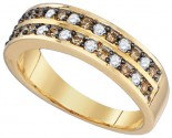 Chocolate Brown Diamond Band 10K Yellow Gold 0.50 cts. GD-79143