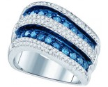 Blue Diamond Fashion Band 10K White Gold 1.27 cts. GD-79498
