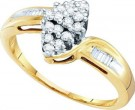 Diamond Cocktail Ring 10K Yellow Gold 0.25 cts. GD-7951