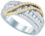 Ladies Diamond Fashion Band 10K Two Tone Gold 1.03 cts. GD-80070