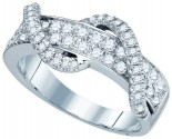 Ladies Diamond Fashion Band 10K White Gold 0.78 cts. GD-80072