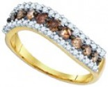 Chocolate Brown Diamond Band 10K Yellow Gold 0.75 cts. GD-80084