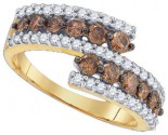 Chocolate Brown Diamond Ring 10K Yellow Gold 1.00 ct. GD-80085