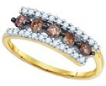 Chocolate Brown Diamond Band 10K Yellow Gold 0.62 cts. GD-80088