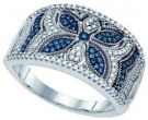 Blue Diamond Fashion Band 10K White Gold 0.40 cts. GD-80343