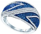 Blue Diamond Fashion Band 10K White Gold 1.00 ct. GD-80344