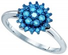 Blue Diamond Fashion Ring 10K White Gold 0.45 cts. GD-80435