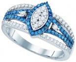 Ladies Diamond Fashion Band 10K White Gold 0.85 cts. GD-80447