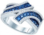 Blue Diamond Fashion Band 10K White Gold 0.80 cts. GD-80448