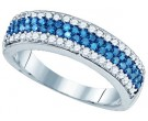 Blue Diamond Fashion Band 10K White Gold 0.85 cts. GD-80449