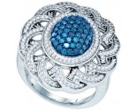 Blue Diamond Fashion Ring 10K White Gold 1.18 cts. GD-80453