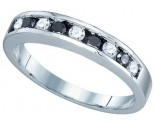 Black Diamond Fashion Band 10K White Gold 0.24 cts. GD-80958