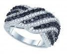 Black Diamond Fashion Ring 10K White Gold 1.52 cts. GD-81213