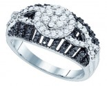 Black Diamond Fashion Ring 10K White Gold 0.85 cts. GD-81214