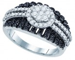 Black Diamond Fashion Ring 10K White Gold 1.00 ct. GD-81218