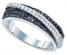 Black Diamond Fashion Ring 10K White Gold 0.45 cts. GD-81229
