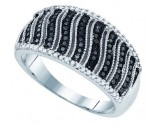 Black Diamond Fashion Ring 10K White Gold 0.40 cts. GD-81423