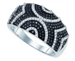 Black Diamond Fashion Ring 10K White Gold 0.60 cts. GD-81424