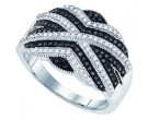 Black Diamond Fashion Ring 10K White Gold 0.50 cts. GD-81428