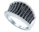 Black Diamond Fashion Ring 10K White Gold 0.48 cts. GD-81430