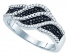 Black Diamond Fashion Ring 10K White Gold 0.40 cts. GD-81431