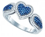 Ladies Diamond Fashion Ring 10K White Gold 0.40 cts. GD-81438