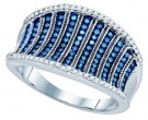Ladies Diamond Fashion Band 10K White Gold 0.48 cts. GD-81440