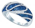 Ladies Diamond Fashion Band 10K White Gold 0.60 cts. GD-81441