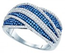 Ladies Diamond Fashion Band 10K White Gold 0.75 cts. GD-81442