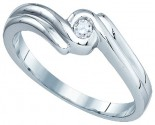 Ladies Diamond Fashion Ring 10K White Gold 0.05 cts. GD-81452