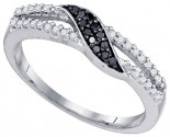 Black Diamond Fashion Ring 10K White Gold 0.19 cts. GD-81459