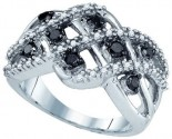 Black Diamond Fashion Ring 10K White Gold 0.62 cts. GD-81467