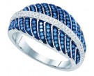 Ladies Diamond Fashion Band 10K White Gold 0.40 cts. GD-81479