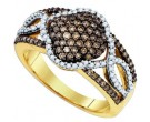Champagne Brown Diamond Band 10K Yellow Gold 0.63 cts. GD-81626