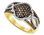 Chocolate Brown Diamond Band 10K Yellow Gold 0.63 cts. GD-81626
