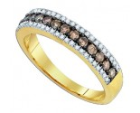 Chocolate Brown Diamond Band 10K Yellow Gold 0.58 cts. GD-81630