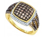 Cognac Brown Diamond Band 10K Yellow Gold 1.06 cts. GD-81632